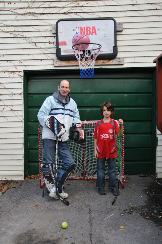Day 39 - Father and son hockey match in Driveway, Ottawa, Ontario