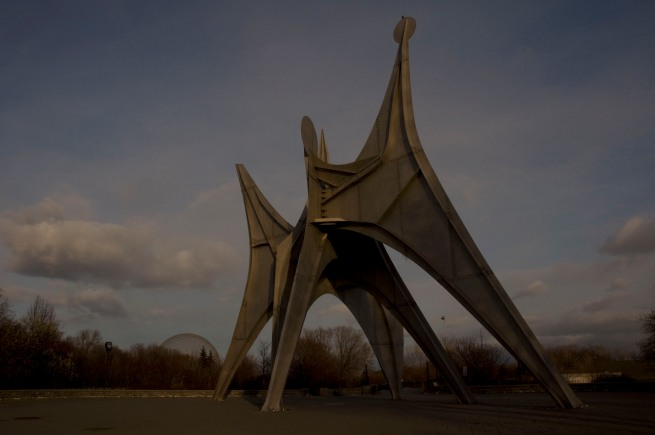 "Alexander Calder sculpture on Isle St. Helene - ""The Man"""