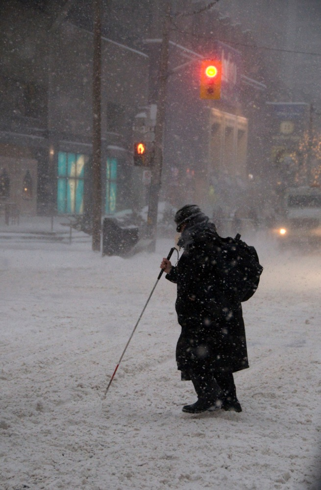 blind-lady-in-blizzard-toronto