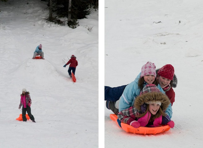 three-girls-sledding