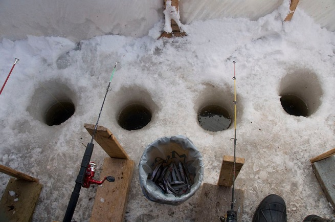 four-ice-fishing-holes