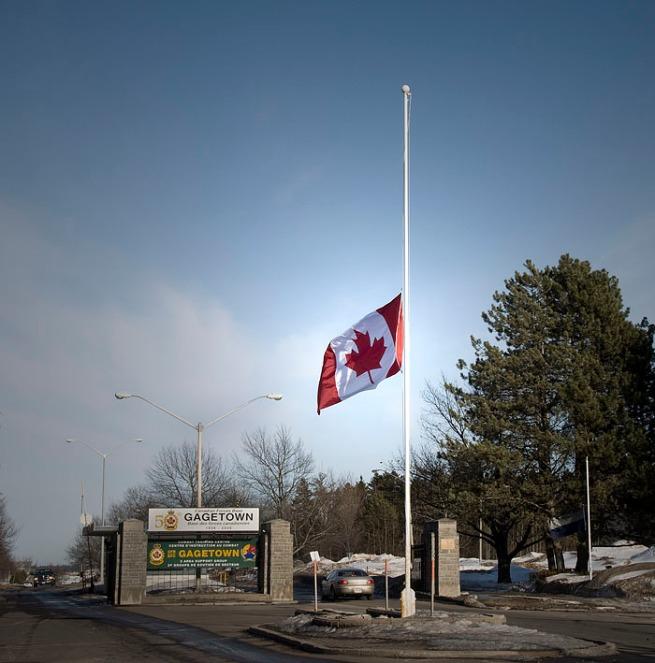 gagetown-canada-flag-half-mast