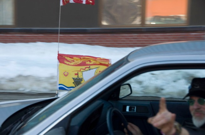 new-brunswick-flag-on-car