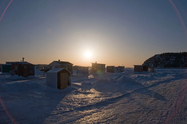 sun-setting-on-fishing-shacks
