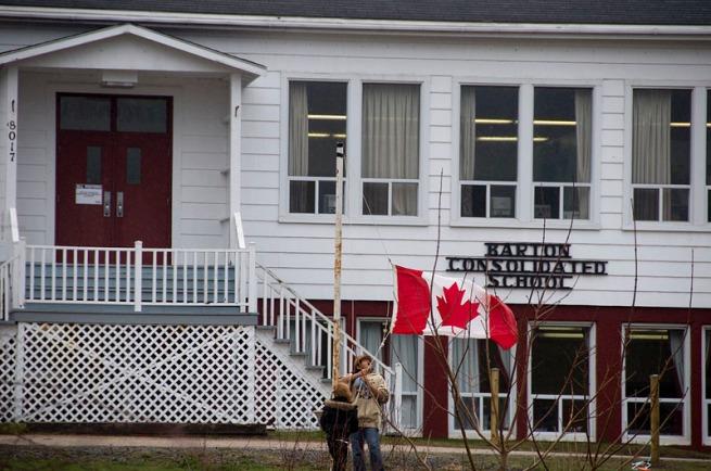 barton-school-taking-down-the-flag