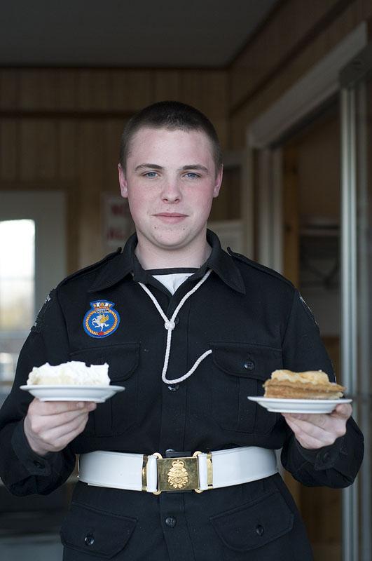cadet-holding-pie