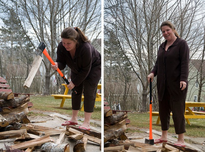 chopping-wood-in-flip-flops