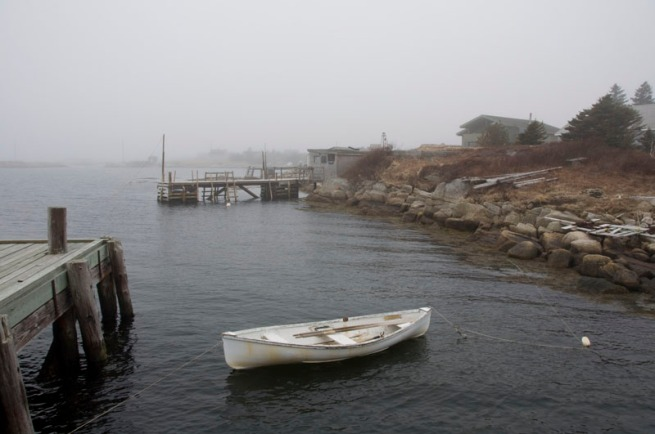 Prospect Wharf's Lone Boat.