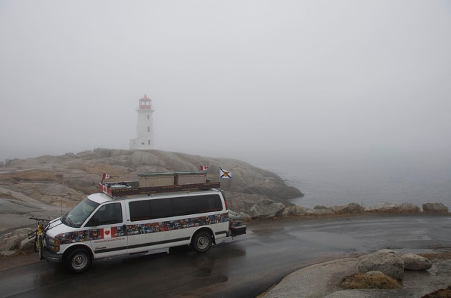 We make it to Peggy's Cove!! I remember and talking about Peggy's Cove and here we are 12000 kms later!!