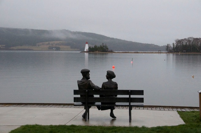 baddeck waterfront sculptures