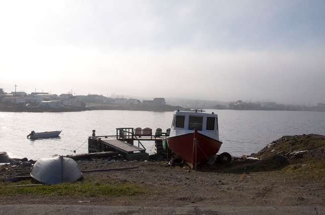 channel-port aux Basque fogging morning