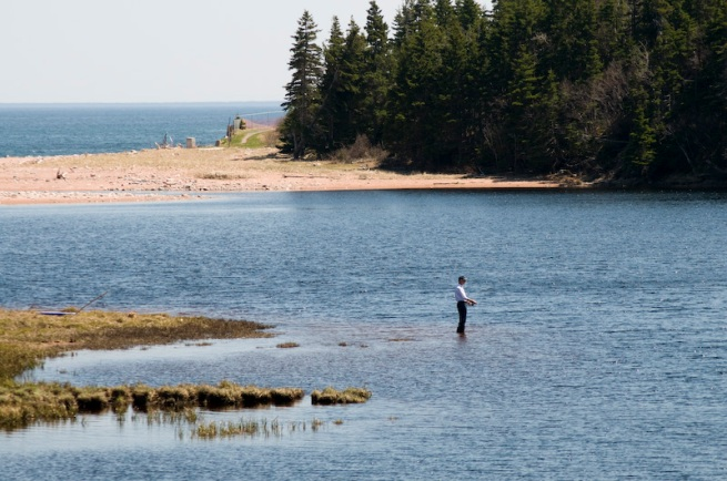 fly fishing on the cabot trail