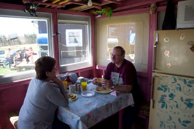 morning breakfast in cabot landing
