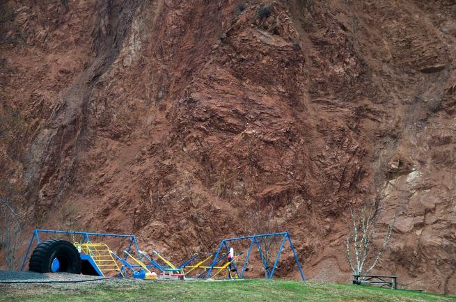 playground near cliff