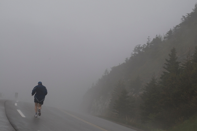 running up the cabot trail