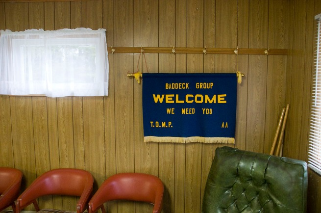 welcome to baddeck interior sign