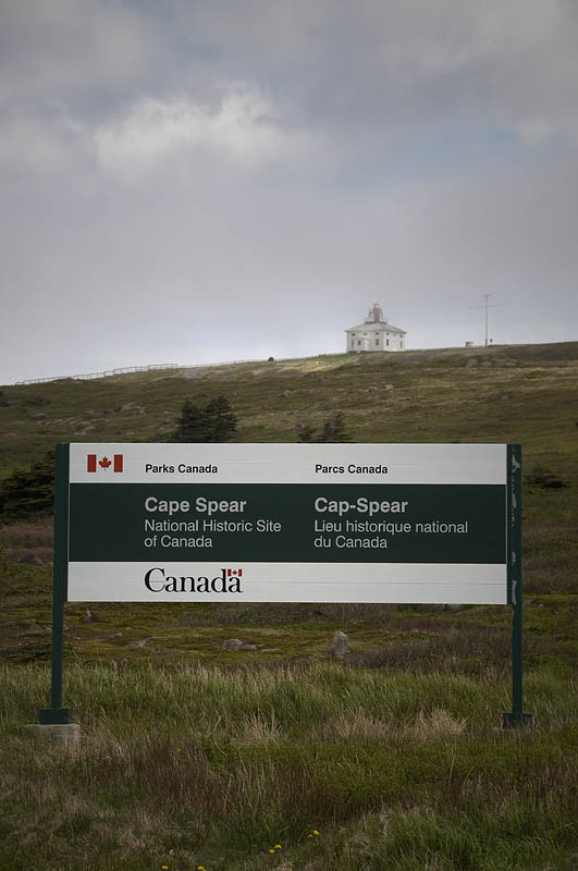 cape spear parks sign