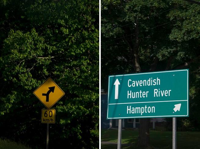 cavendish road sign