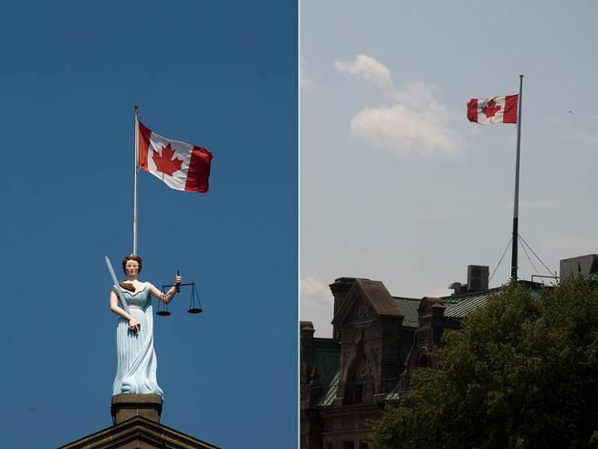 brockvill canada flag