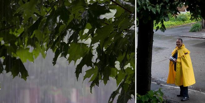 canada post in the rain