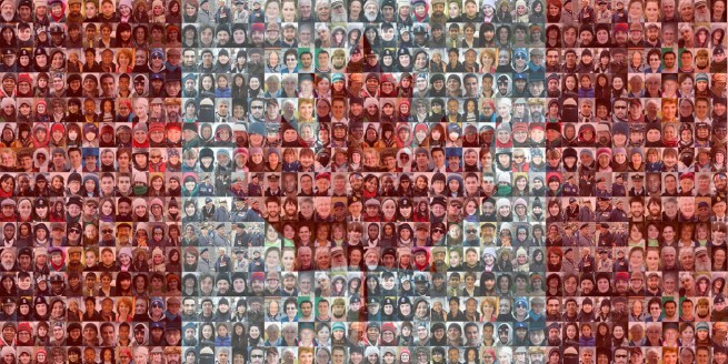 canadian flag mosaic sample 1