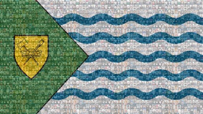 vancouver flag mosaic