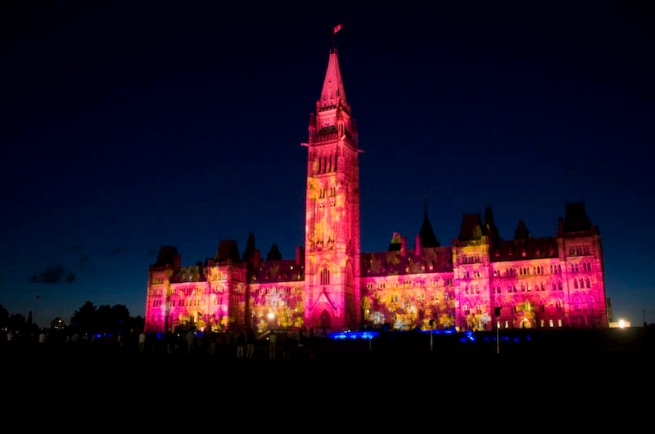 parliament building light show_1