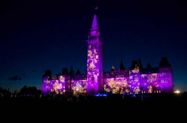 parliament building light show_2