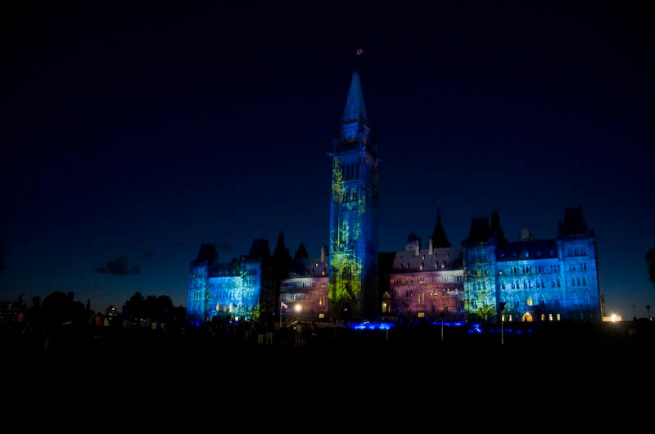 parliament building light show_3