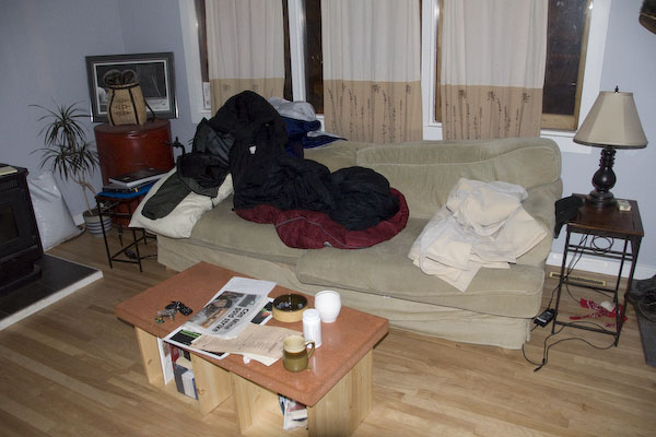 my couch in yellowknife