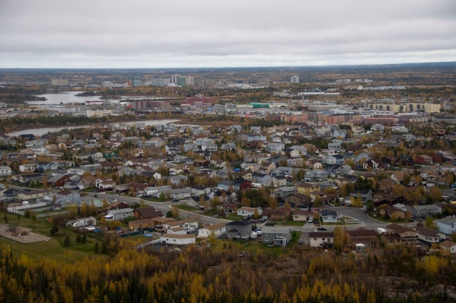 yellowknife flying in